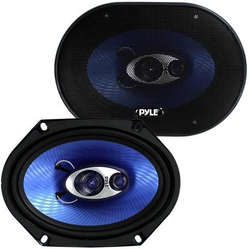 "Pyle PL683BL 6x8"" 360 Watt 3-Way Car Coaxial Audio Speakers Stereo, Blue (Pair) - image 1 of 4"
