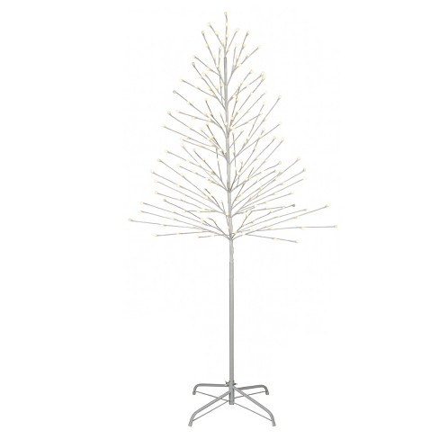 philips 6ft prelit artificial white twig tree warm white led lights - White Twig Christmas Tree