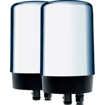 Brita On Tap 2ct Replacement Water Filters - Chrome