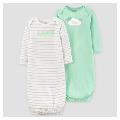 Baby 2pk Gown - Just One You™ Made by Carter's® Mint 0-3M