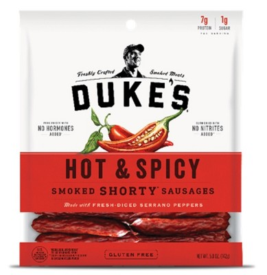 Duke's Hot & Spicy Shorty Smoked Sausages - 5oz