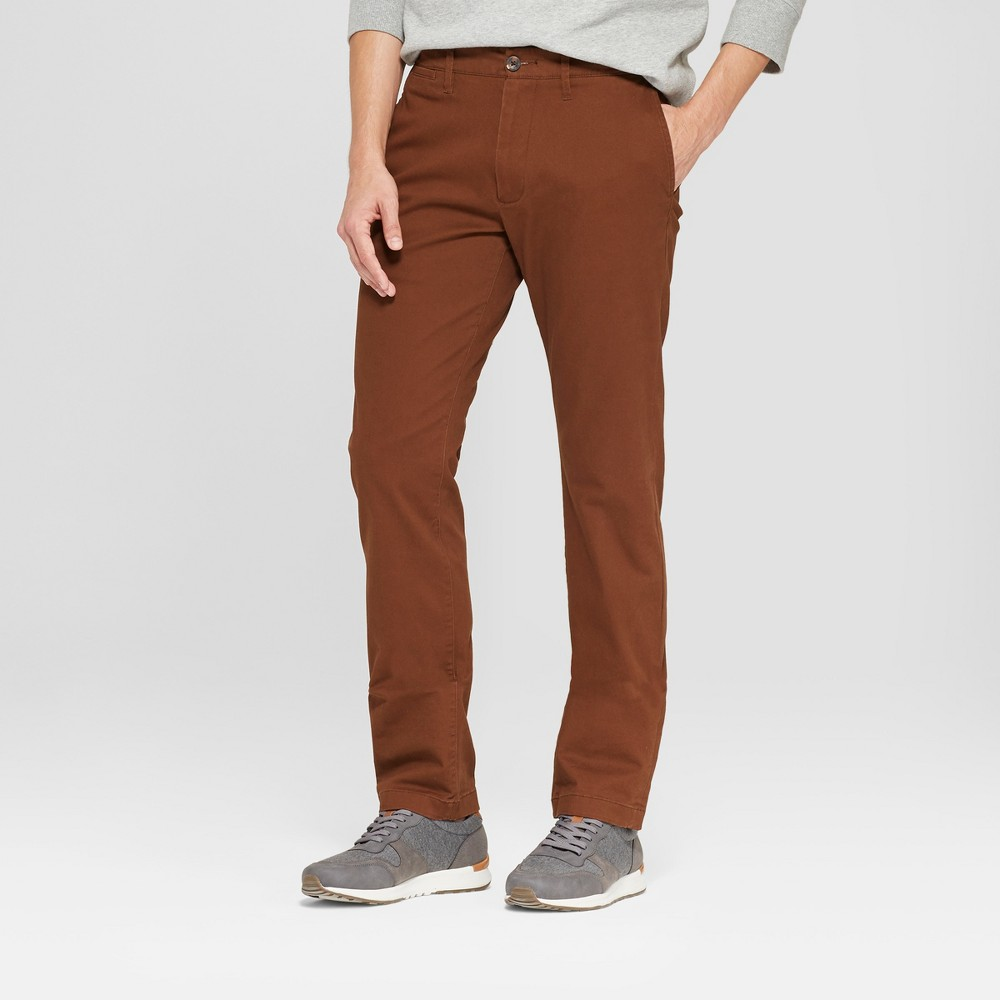 Men's Slim Fit Hennepin Chino - Goodfellow & Co Brown 34x32