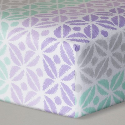Fitted Crib Sheet Pretty in Purple - Cloud Island™ Purple