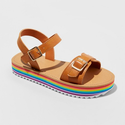 a3cf4948cb9 Girls  Valeria Rainbow Platform Sandals - Cat   Jack™   Target