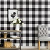 Devine Color Buffalo Plaid Peel And Stick Wallpaper Black/Ivory - image 2 of 4