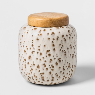 Decorative Earthenware Canister - White - Threshold™