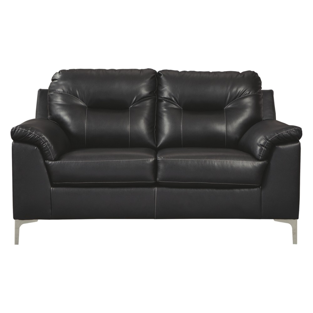 Tensas Loveseat Black - Signature Design by Ashley