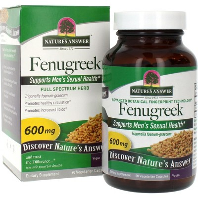 Nature's Answer Female Reductive Support, Fenugreek Seed Capsules-90ct