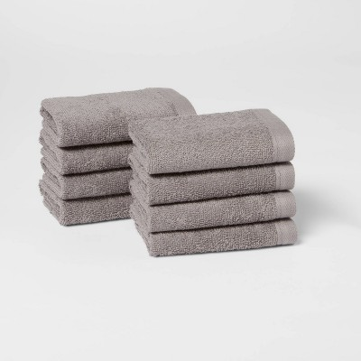 8pk Washcloth Set Gray - Room Essentials™