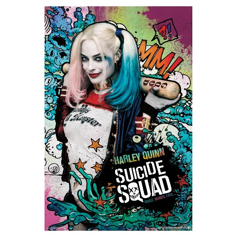 Suicide Squad Harley Stars Poster 34x22 - Trends International - image 1 of 2