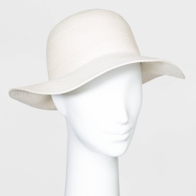 Women's Cotton Rope Fedora Hats - A New Day™ Natural One Size