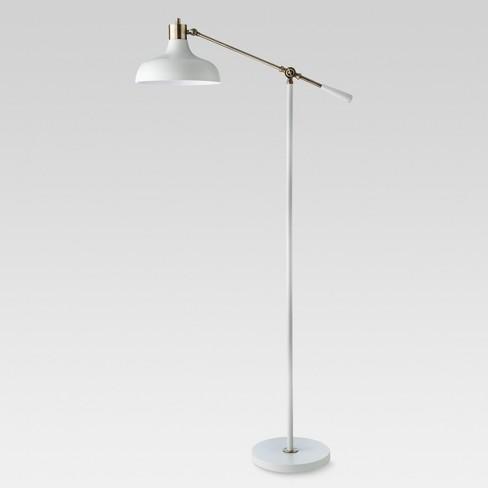 Crosby Schoolhouse Floor Lamp White  - Threshold™ - image 1 of 4