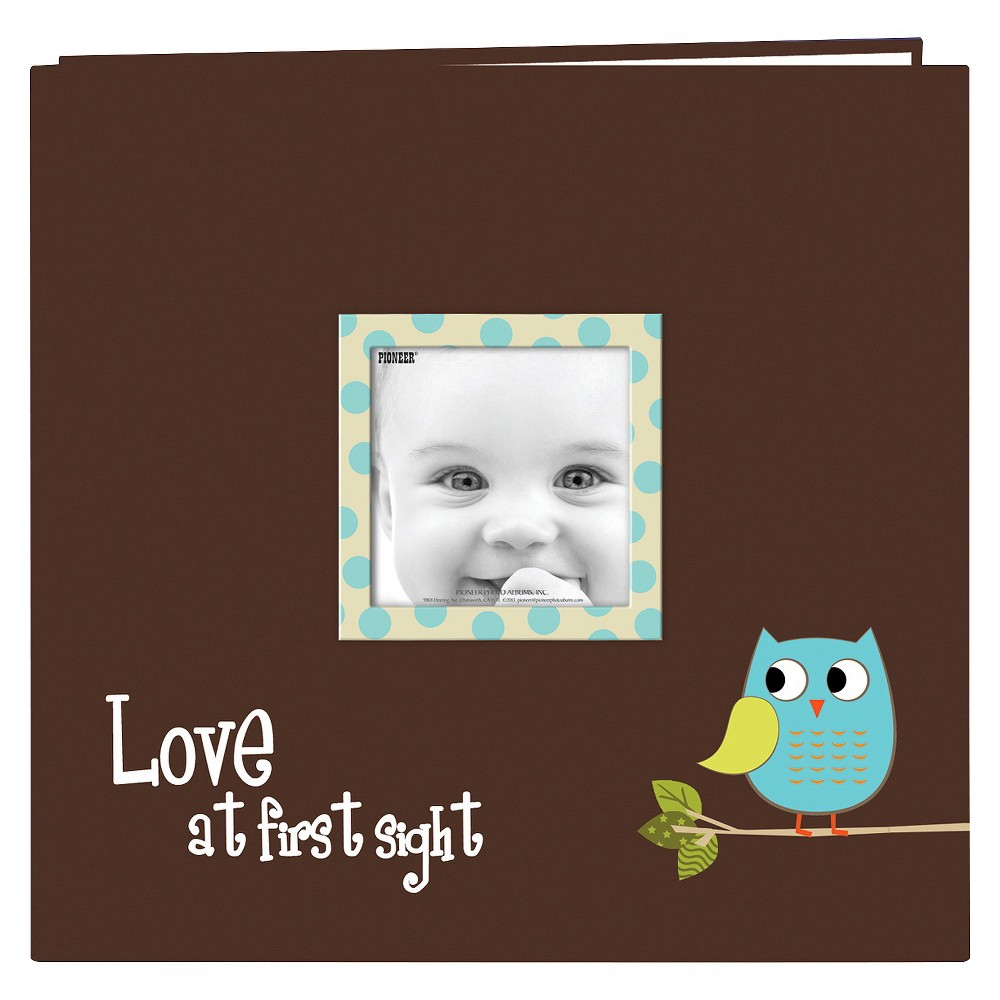 Image of Baby Owl Design Post Bound Scrapbook Album, Brown