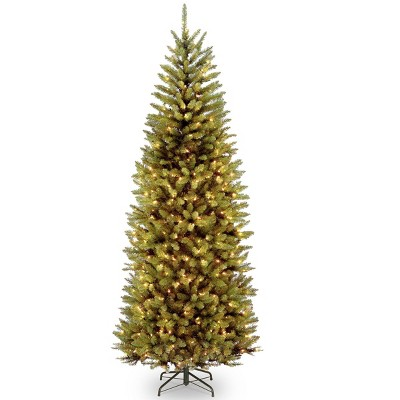 7.5ft National Christmas Tree Company Kingswood Fir Artificial Slim Christmas Tree Dual Color LED