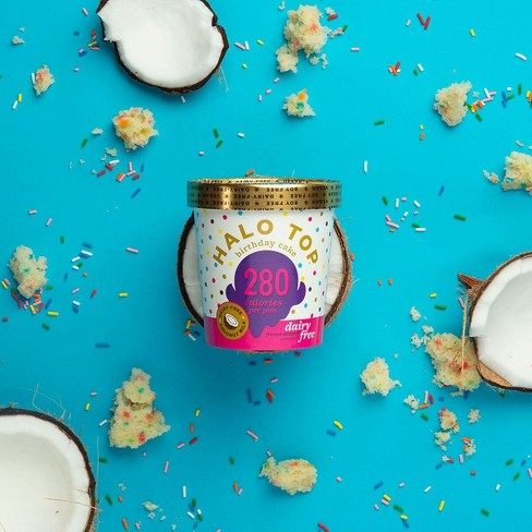 Halo Top Dairy Free Birthday Cake Ice Cream