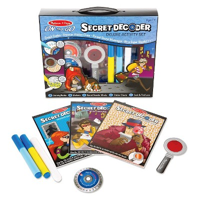 Melissa & Doug On the Go Secret Decoder Deluxe Activity Set and Super Sleuth Toy Board Game