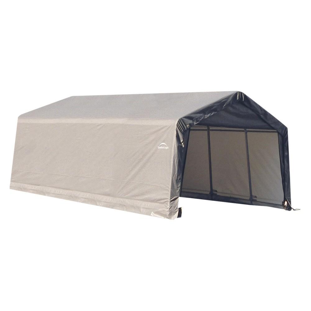 12' X 20' X 8'Peak Style Shelter- Gray - Shelterlogic