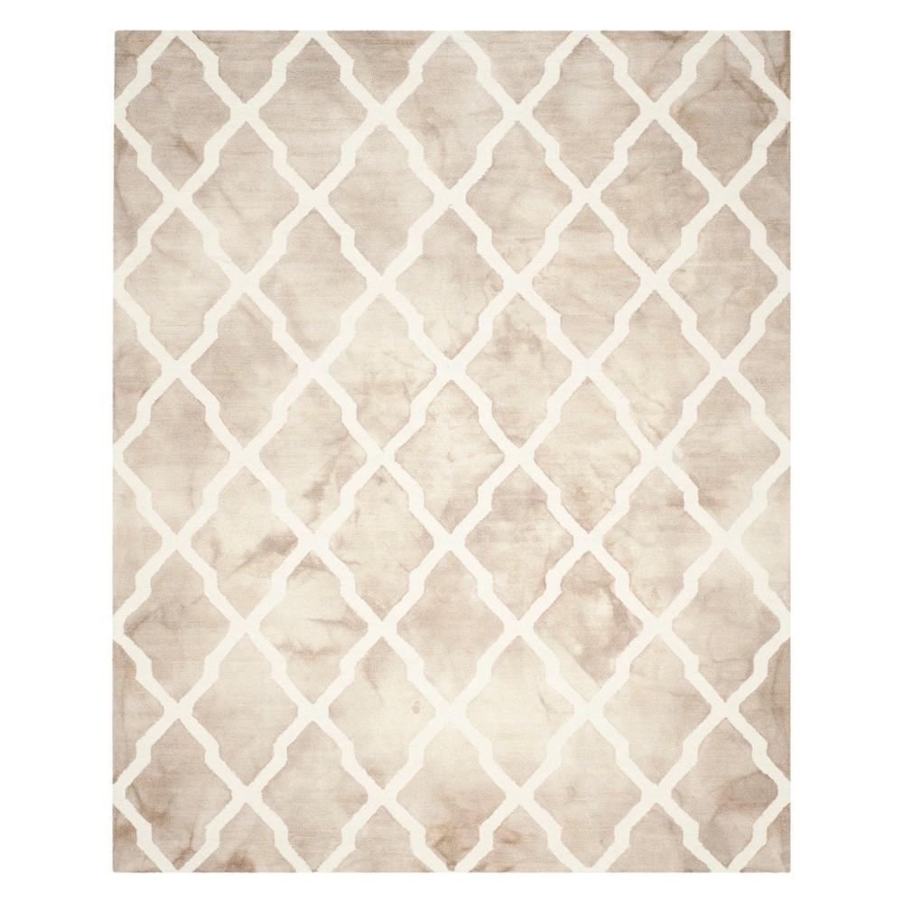 Quatrefoil Design Area Rug Beige/Ivory