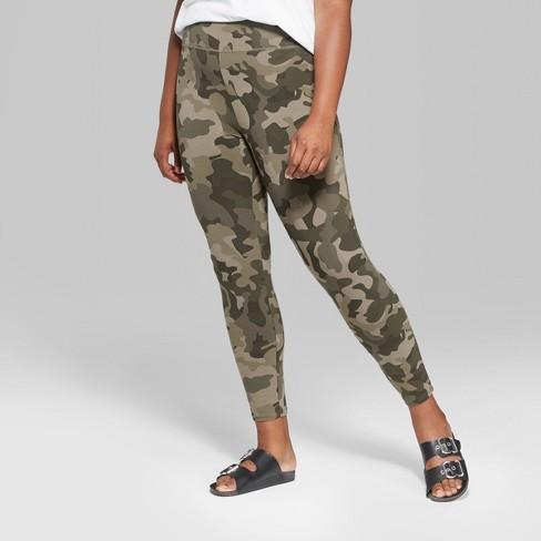 c2ff6181c34 Women s Plus Size Camo Print High-Rise Leggings - Wild Fable™ Green 2X    Target