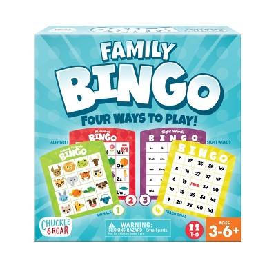 Chuckle & Roar Family Bingo - Kids Educational Bingo Game