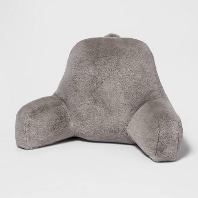Faux Fur Backrest Gray - Pillowfort™
