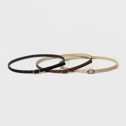 0718788edadd Women's Leopard Print Calf Hair Belt - Brown & Tan - A New Day™ : Target