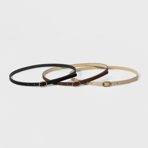 Women's 3pk Belt - Universal Thread™ - image 1 of 4