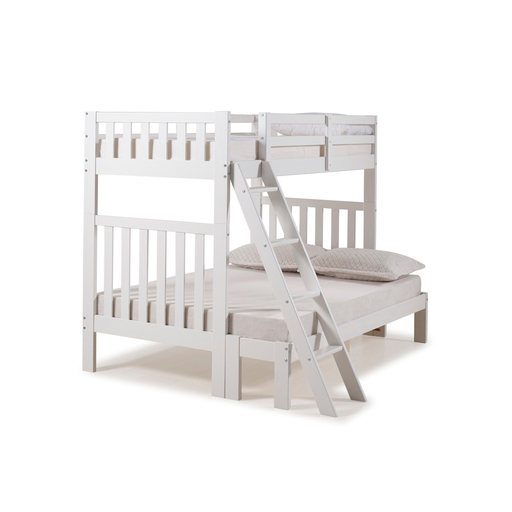 Twin Over Full Aurora Bunk Bed White - Alaterre Furniture
