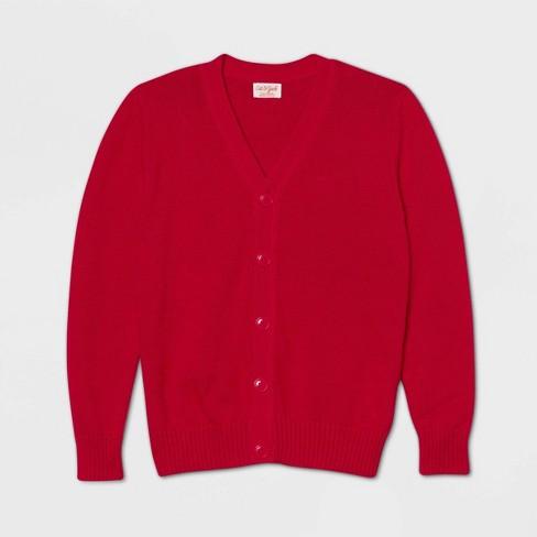 Boys' V-Neck Uniform Button-Front Cardigan - Cat & Jack™ - image 1 of 1