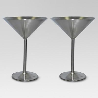 8oz 2pk Stainless Steel Martini Glasses - Threshold™