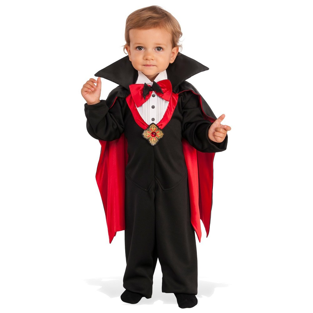 Baby Boys' Dapper Drac Halloween Costume 6-12M - Rubie's, Black