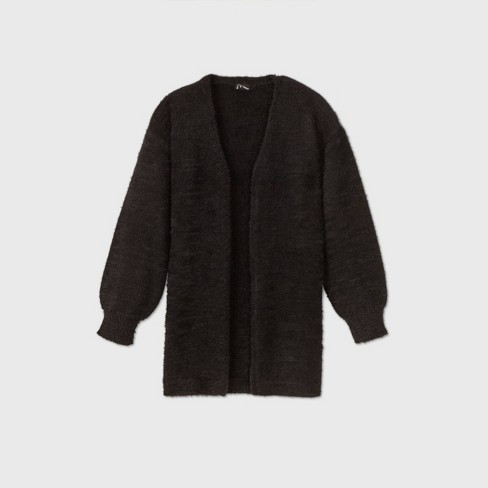 Girls' Open-Front Cardigan - art class™ Black - image 1 of 2