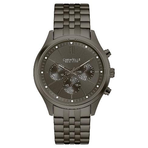 c8ee88661 Caravelle New York by Bulova Men's Chronograph Gunmetal IP Stainless Steel  Bracelet Watch - 45A133