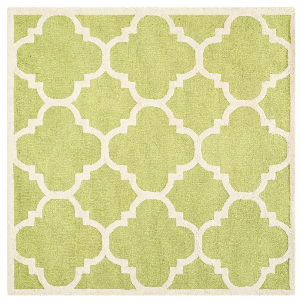 Landon Texture Wool Rug - Green / Ivory (8' X 8') - Safavieh, Green/Ivory