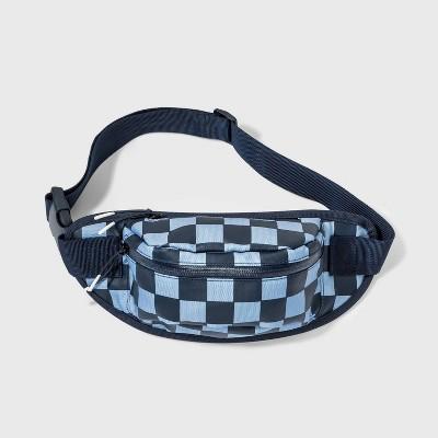Kids' Checkered Sling Pack - art class™ Blue