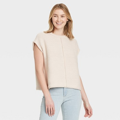 Women's Crewneck Extended Shoulder Sweater Vest - Universal Thread™