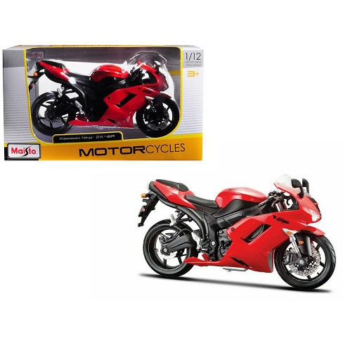 Kawasaki Ninja Zx 6r Red 1 12 Motorcycle Model By Maisto Target