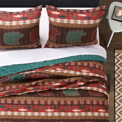 Greenland Home Fashion Canyon Creek Cozy Lodge Style Cotton Pillow Sham, Multicolor