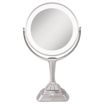 Zadro Next Generation LED Lighted Mirror with Smart Dimmer Satin Nickel - 10X/1X