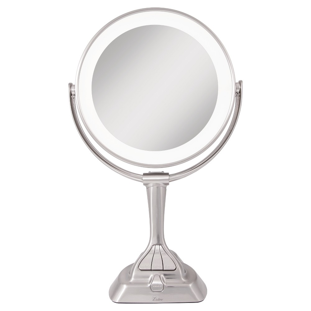 Image of Zadro Next Generation LED Lighted Mirror with Smart Dimmer Satin Nickel - 10X/1X