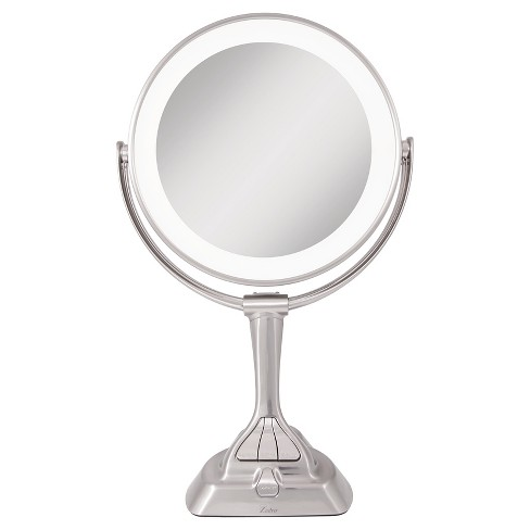 Zadro Next Generation LED Lighted Mirror with Smart Dimmer Satin Nickel - 10X/1X - image 1 of 4