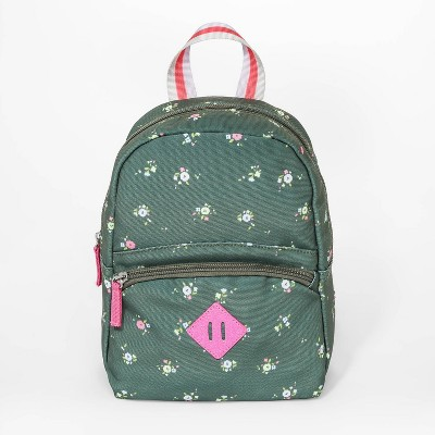 Girls' Floral Print Mini Backpack - Cat & Jack™ Green