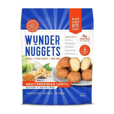 Crafty Counter Gluten Free Frozen Mediterranean Lentil Wunder Nuggets - 8oz