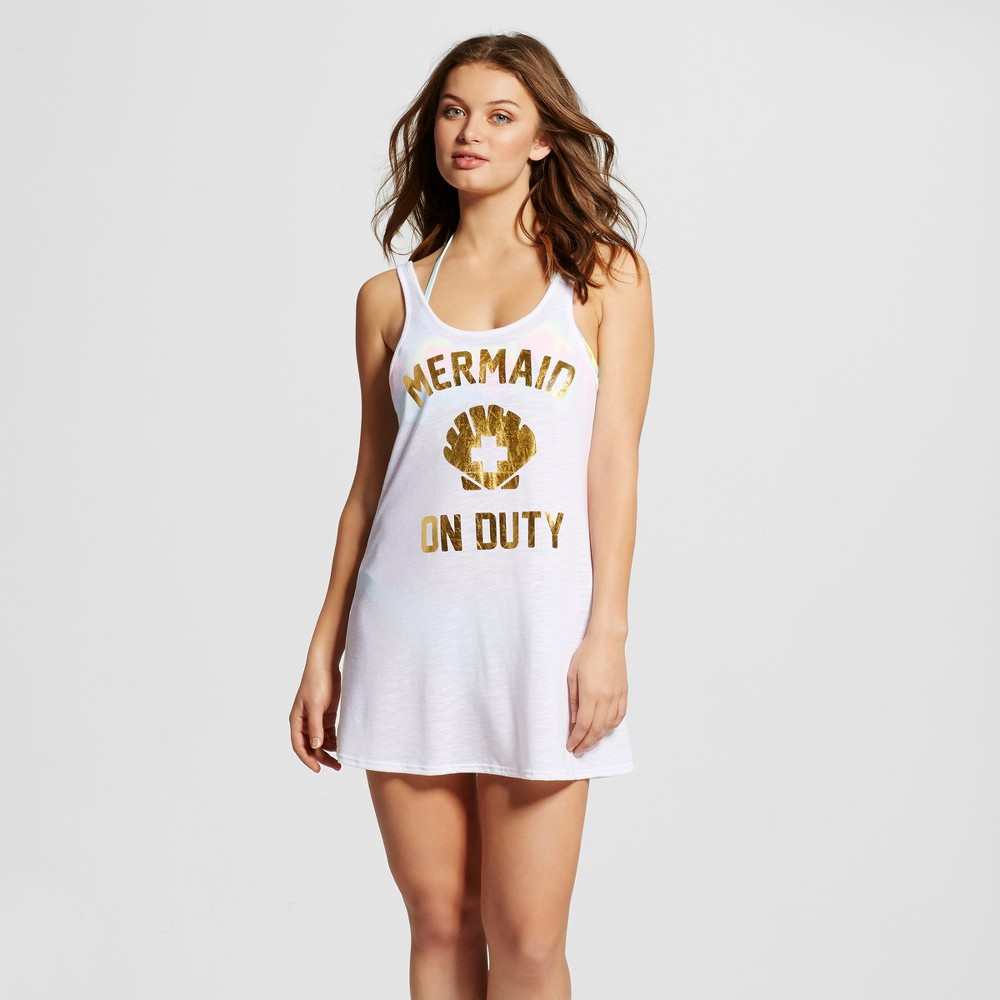 Women's Graphic Tank Cover Up Dress - Xhilaration White M