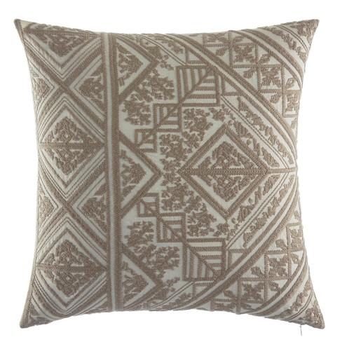 Selene Embroidered Throw Pillow Beige - Azalea Sky - image 1 of 2