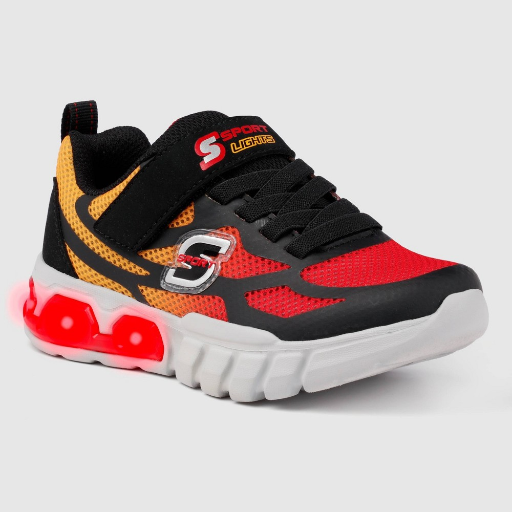Boys 39 S Sport By Skechers Sylis Apparel Sneakers Red Black 1