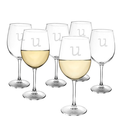 Cathy's Concepts® Personalized 12 oz. White Wine Glasses (Set of 6)-U - image 1 of 4