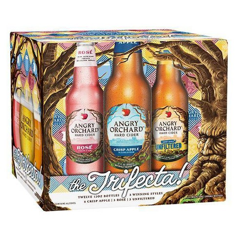 Angry Orchard Hard Cider Trifecta Variety Pack - 12pk/12 fl oz Bottles - image 1 of 3