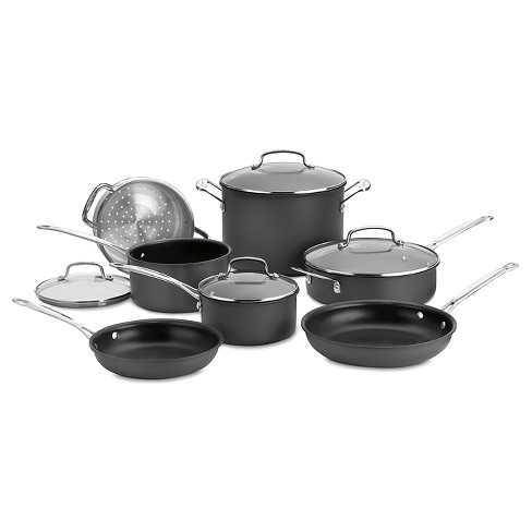 Cuisinart Chef's Classic Nonstick Hard Anodized 11 Piece Cookware Set w/cover - 66-11 - image 1 of 4