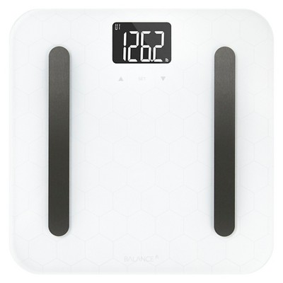 Designer Glass Body Composition Bathroom Scale White - Greater Goods